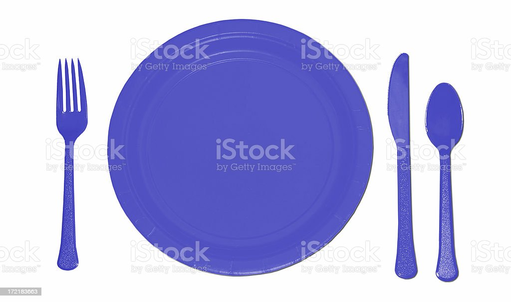 Blue Place Setting royalty-free stock photo