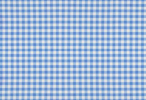 Blue plaid cotton fabric background