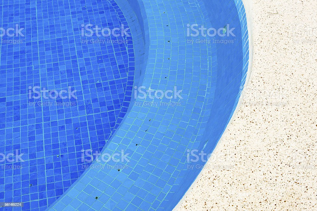Blue planches in the pool with water royalty-free stock photo