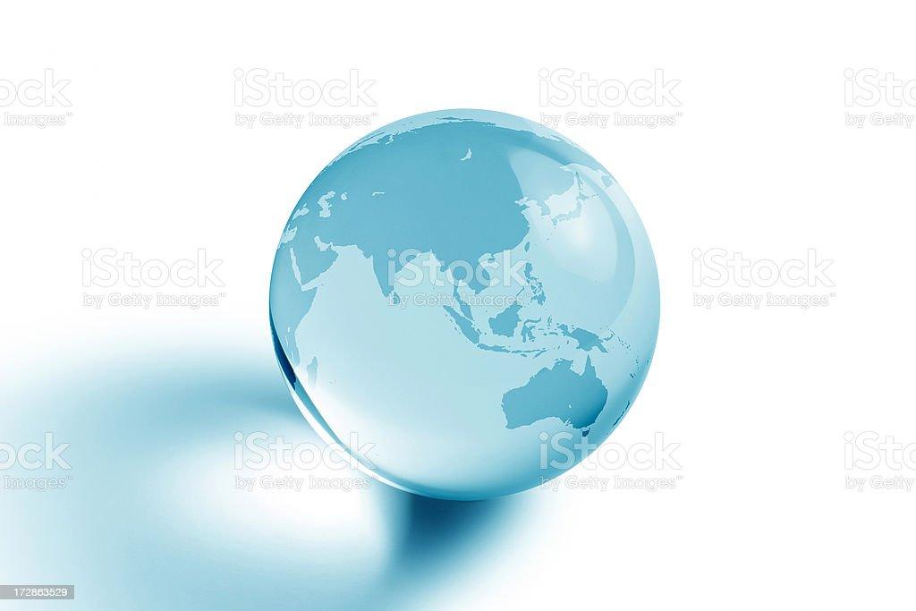 Blue Planet - Asia and Australia stock photo
