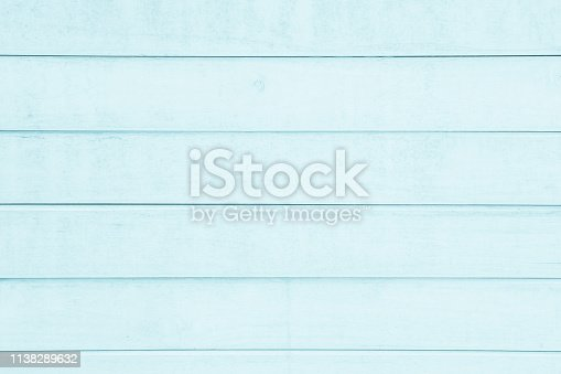 istock Blue plank wood textured wooden background. 1138289632