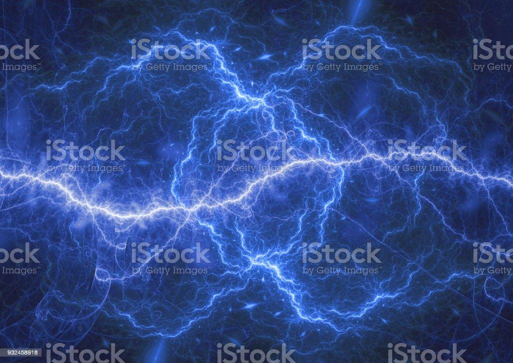 Tormenta eléctrica de plasma azul, eléctrica antecedentes - foto de stock