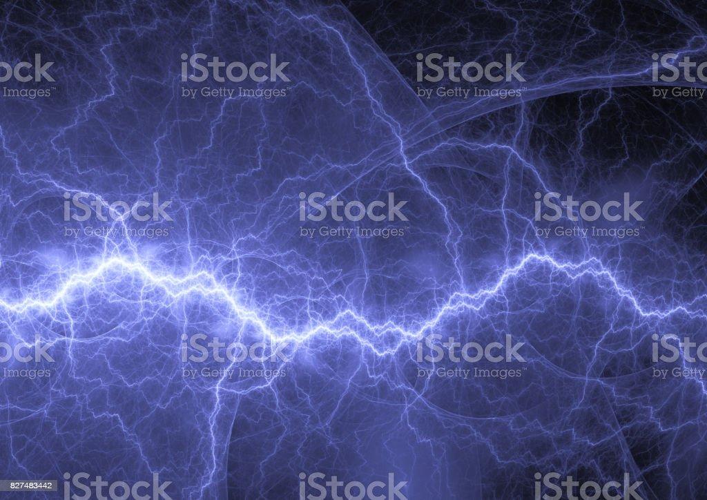 Fondo azul de plasma, potencia y energía - foto de stock