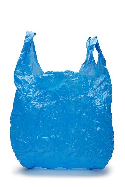 bleu sac en plastique - sac en plastique photos et images de collection