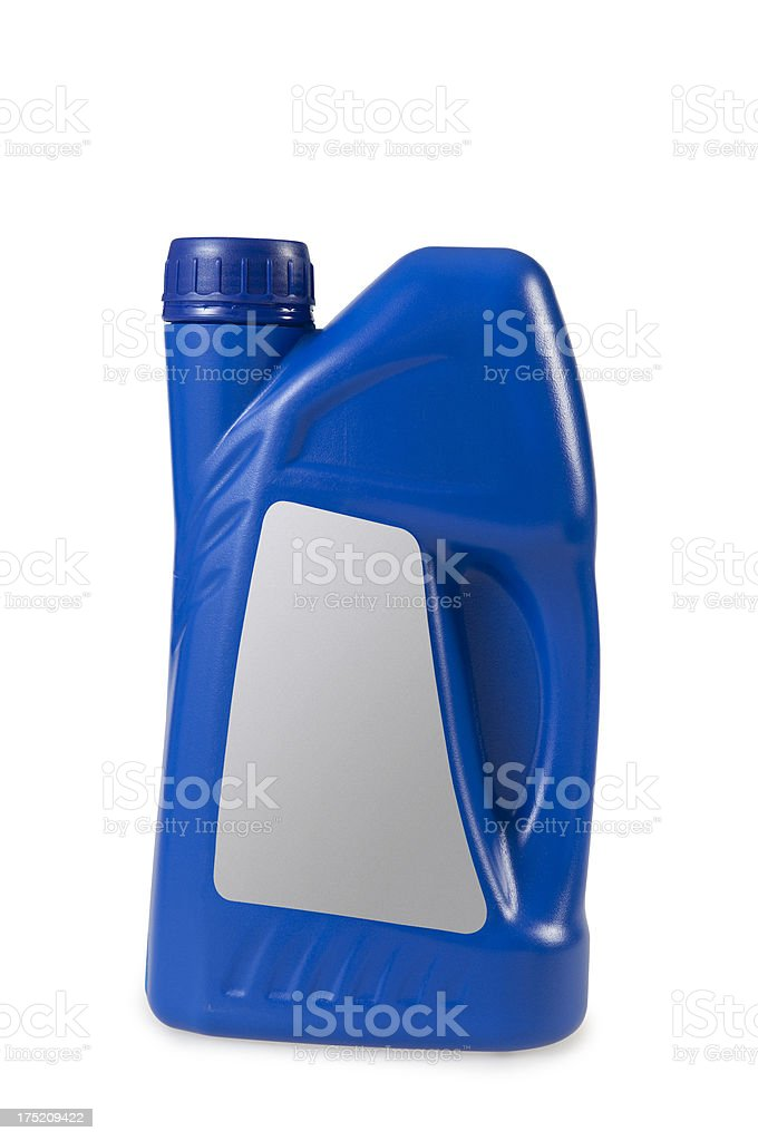 blue plastic bins stock photo