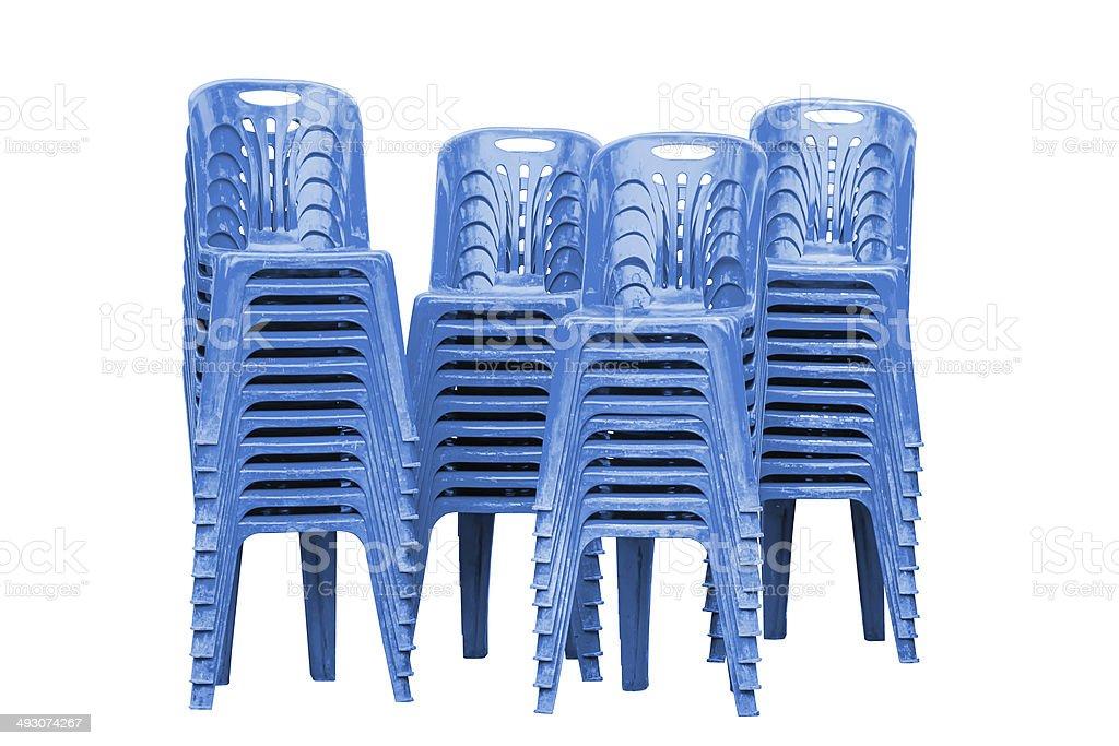 Stock Sedie In Plastica.Sedie In Plastica Blu Fotografie Stock E Altre Immagini Di