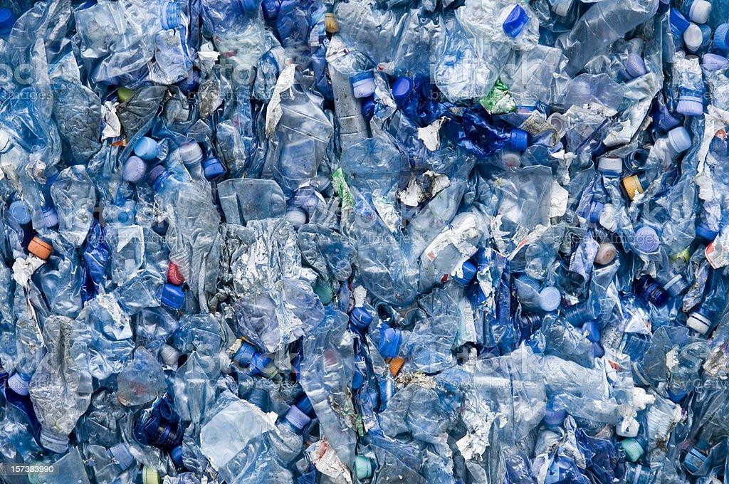 blue plastic garbage royalty-free stock photo