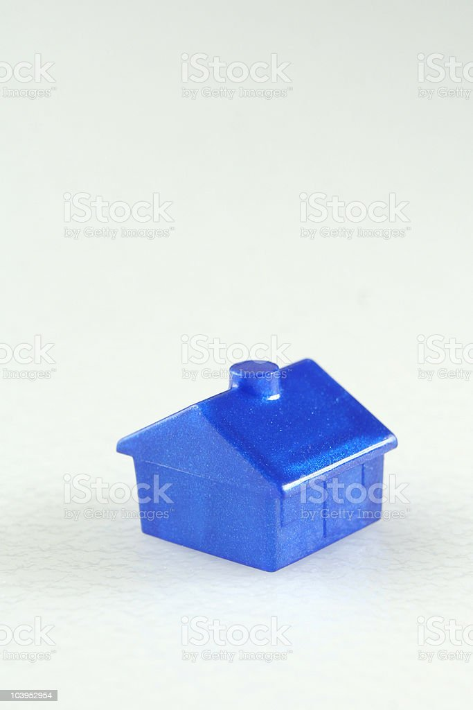 Blue plastic house royalty-free stock photo