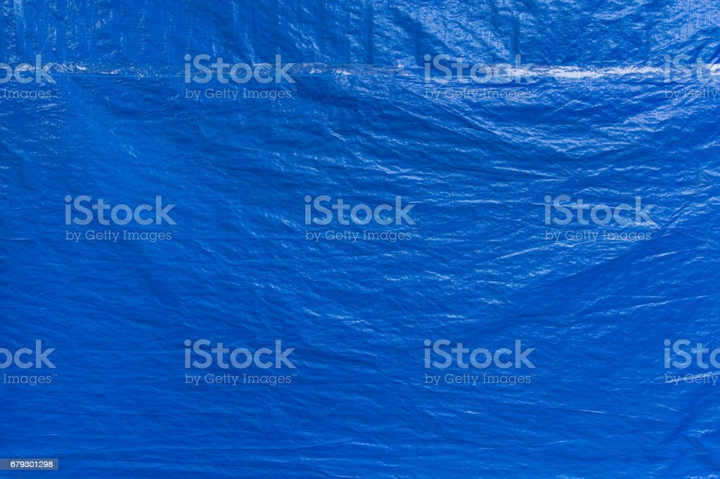 blue plastic protector cover texture pattern background stock photo