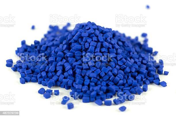 Gestell Aus Blauem Kunststoff Mit Harz Kleine Pile Stockfoto und mehr Bilder von Plastikmaterial
