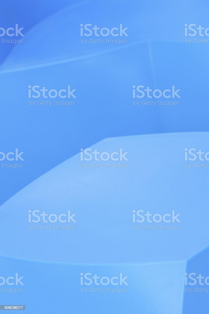 Blue Plastic Sofa Seat Chair Hassock royalty-free stock photo