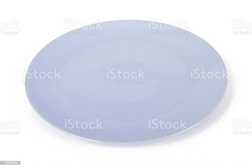 Blue Plate royalty-free stock photo
