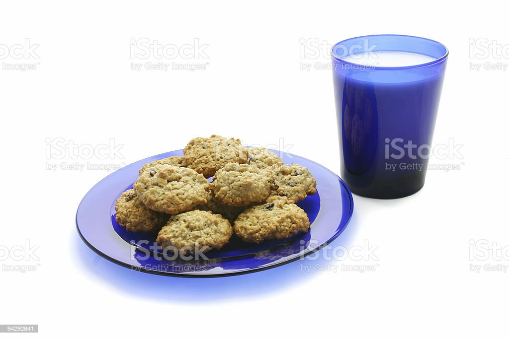 Blue Plate Special royalty-free stock photo