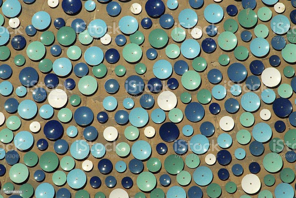 blue plates over concrete stock photo