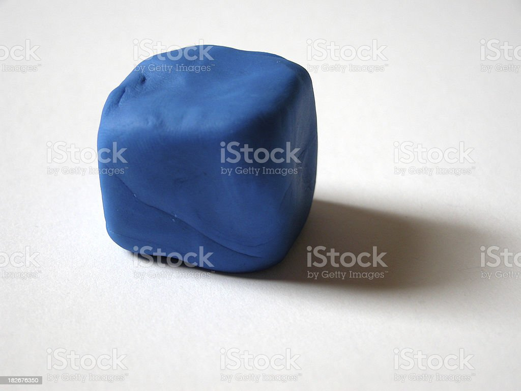 Blue Playdoh Squared stock photo