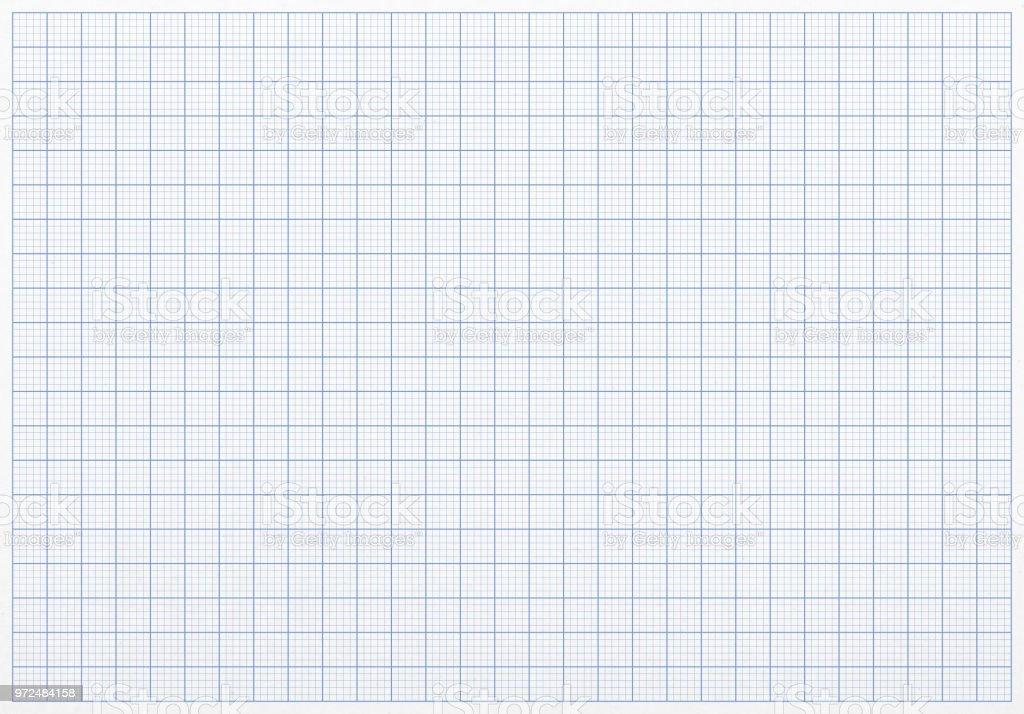 Plotten Diagramm Raster Papierhintergrund blau – Foto
