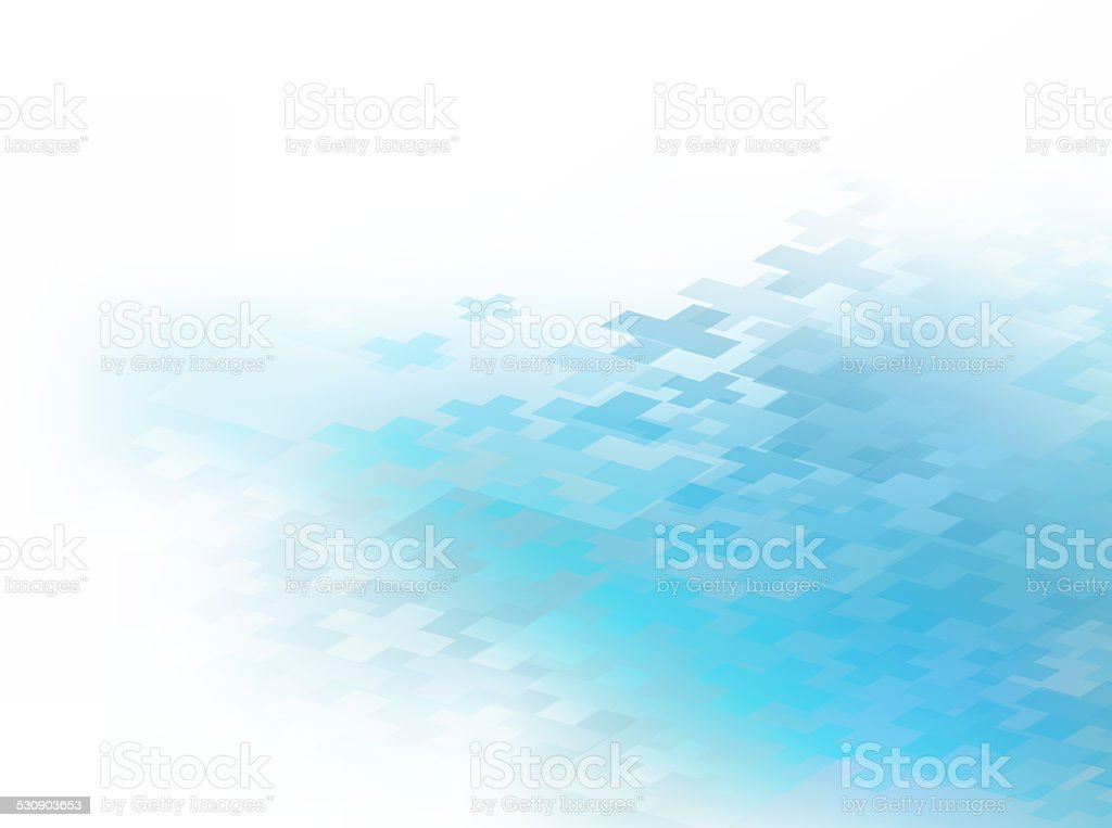 Blue Plus Healthcare Bkg stock photo