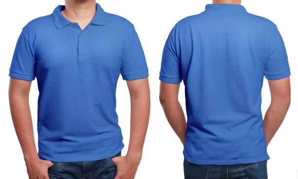 Blue Polo Shirt Design Template stock photo