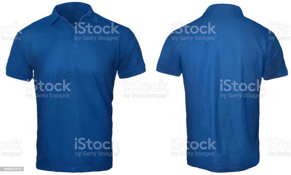 Blue Polo Shirt Mock up stock photo