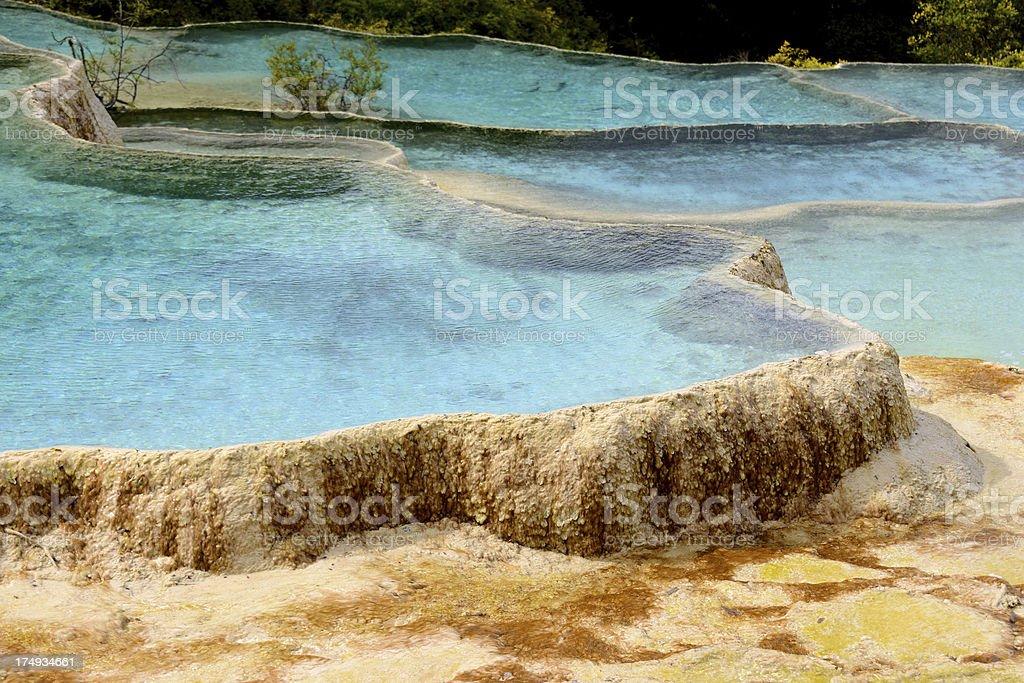Blue Pond at Huanglong National Park near Jiuzhaijou Sichuan, China royalty-free stock photo