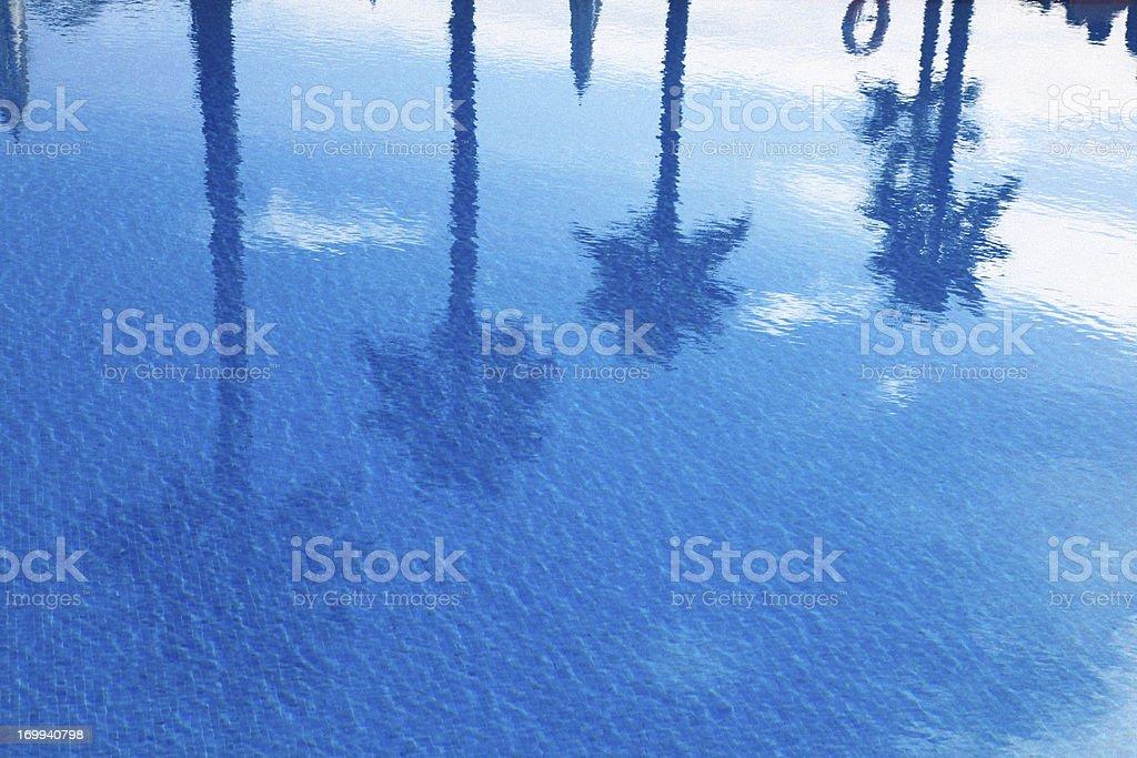 Blue Pool royalty-free stock photo