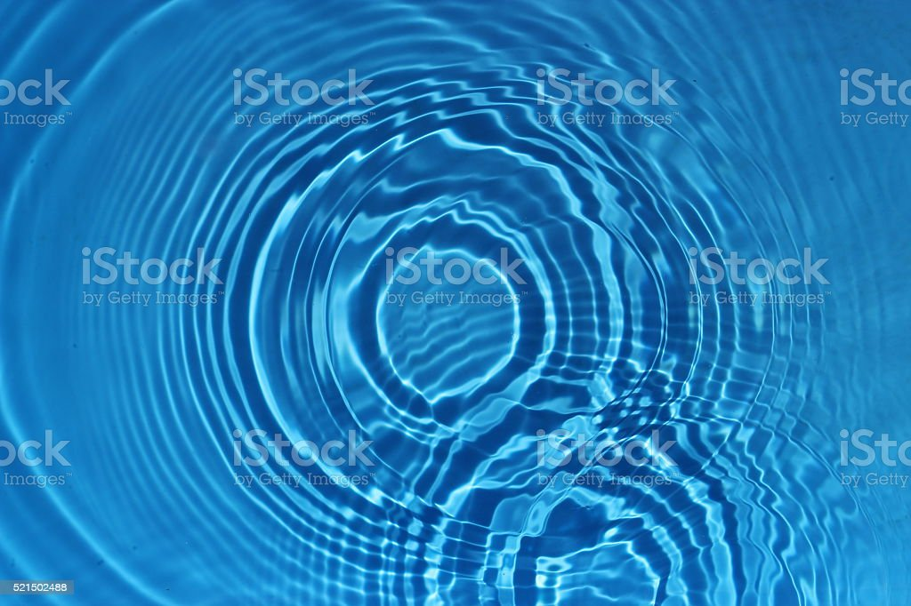 Blue Pool water circle stock photo