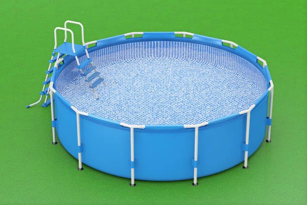 Royalty free plastic swimming pool pictures images and for Plastik pool rund