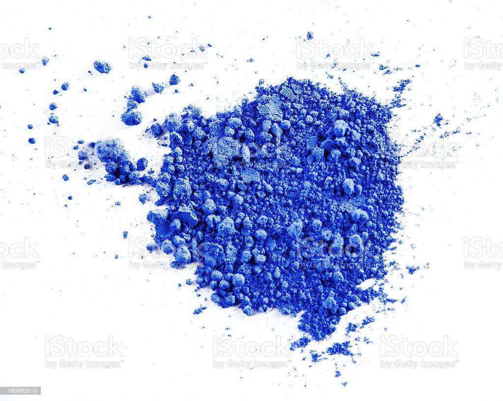 Blue Powder Paint royalty-free stock photo