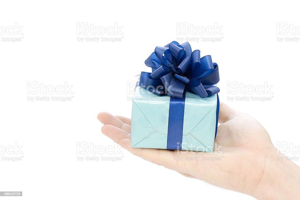 Blue Present stock photo