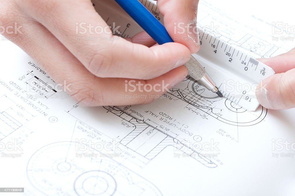 blue print measuring royalty-free stock photo