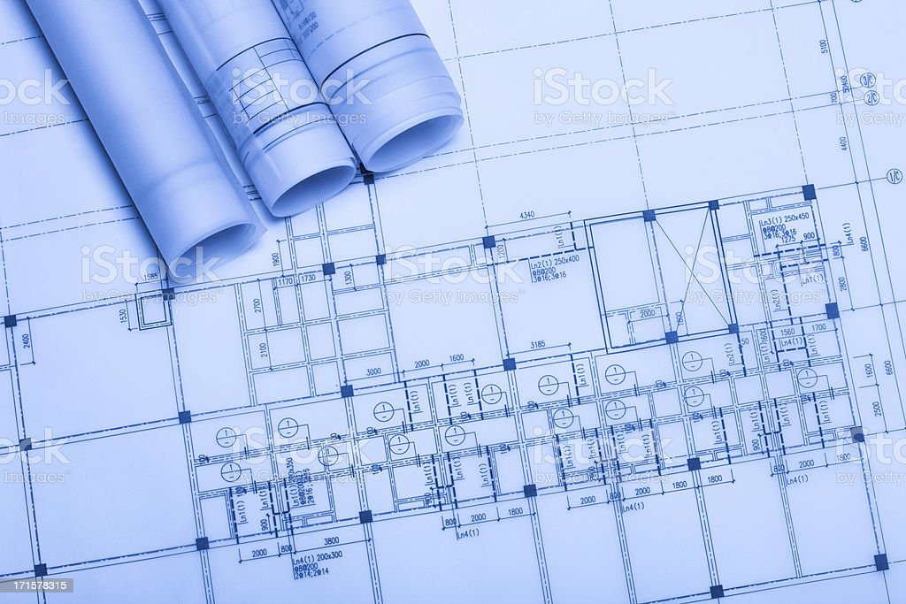 blue print stock photo