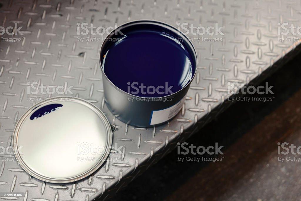 blaue Druckfarbe – Foto