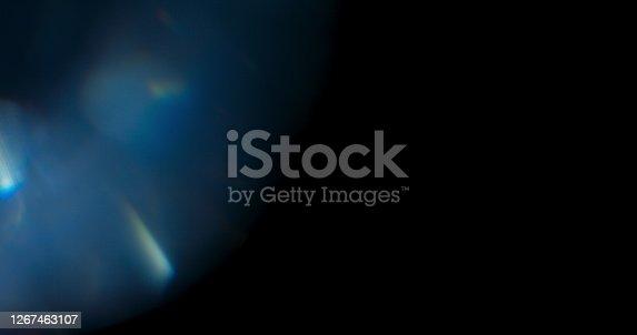 istock Blue Prism Rainbow Light Flares 1267463107