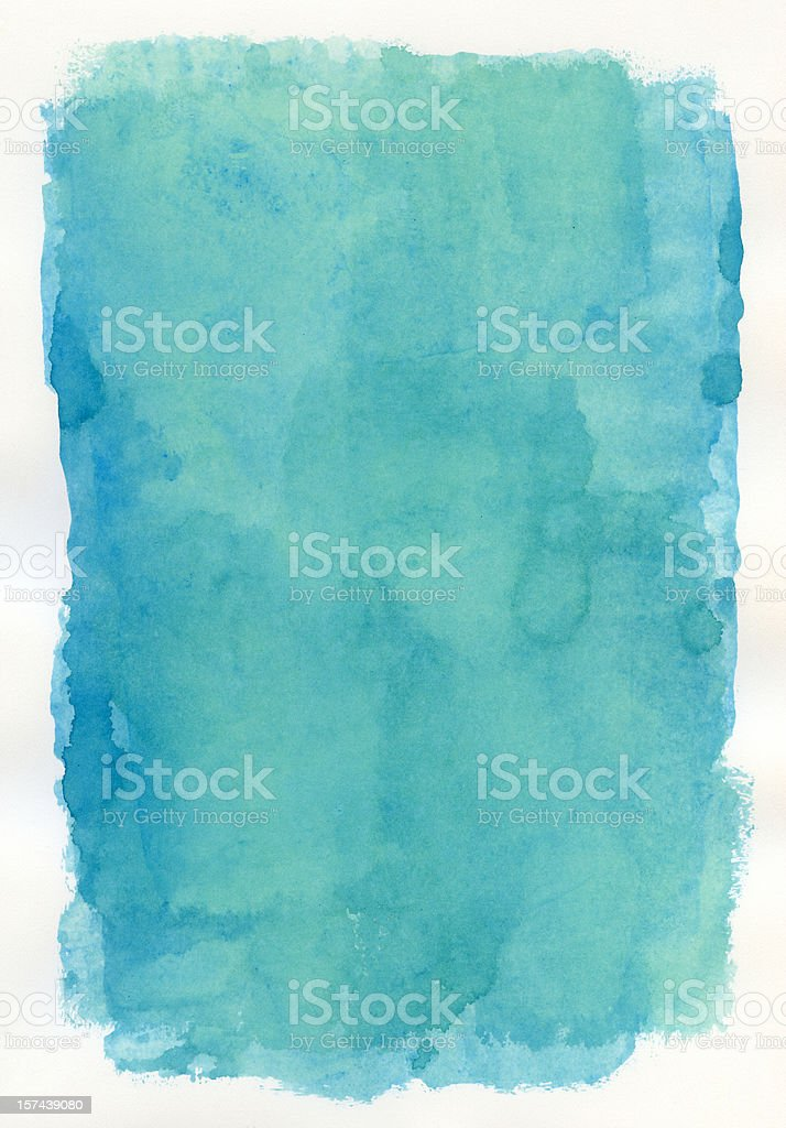 Blue Promise Watercolour royalty-free stock photo