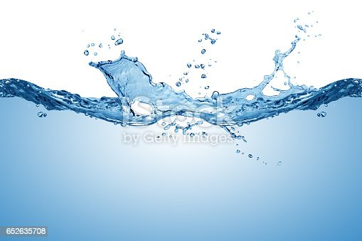 istock blue pure water wave splash 652635708