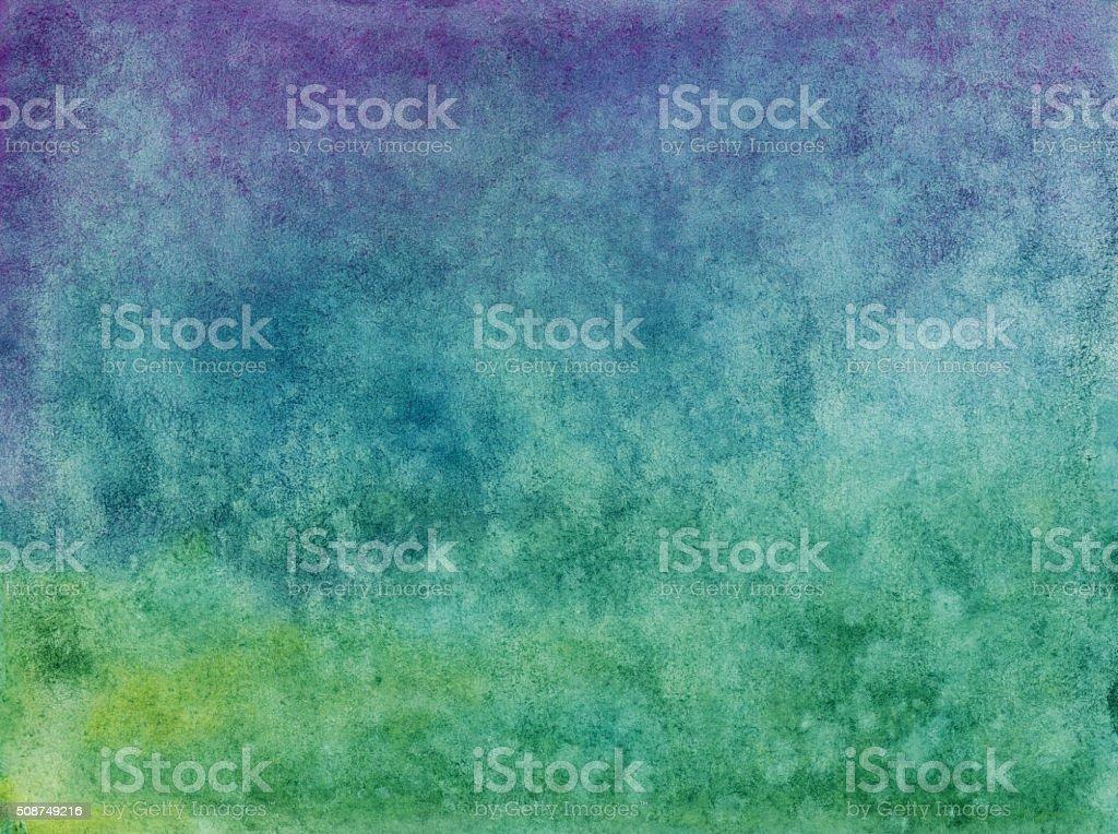 Blu E Viola E Verde Sfondo Sfumate Dipinti A Mano Fotografie Stock