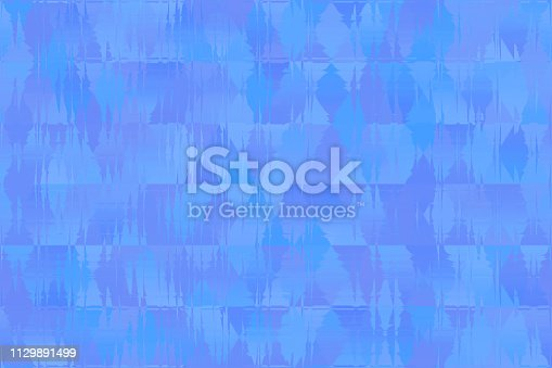Colorful Blue Purple Violet Gray Triangle Seamless Pattern Rhomb Texture Minimalism Multi Colored Background