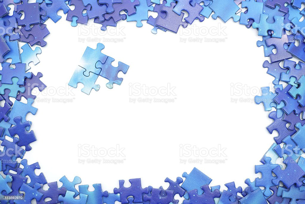 Blue Puzzle Frame Stock Photo & More Pictures of Abstract | iStock
