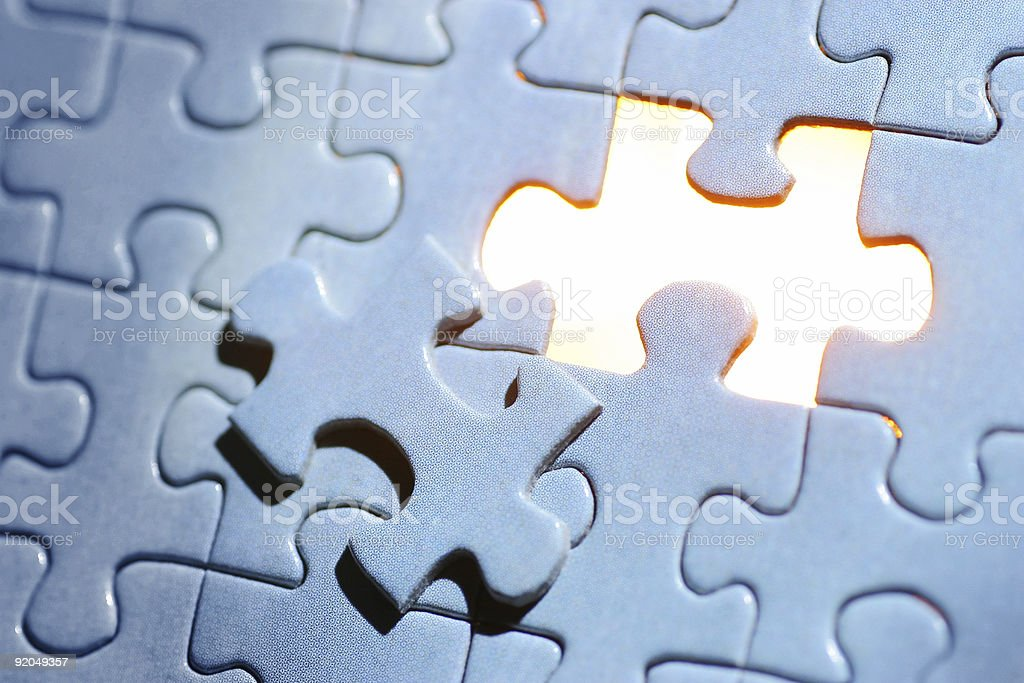 Blue Puzzle stock photo
