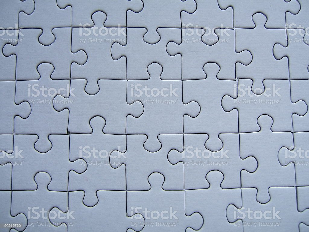 Blue puzzle royalty-free stock photo