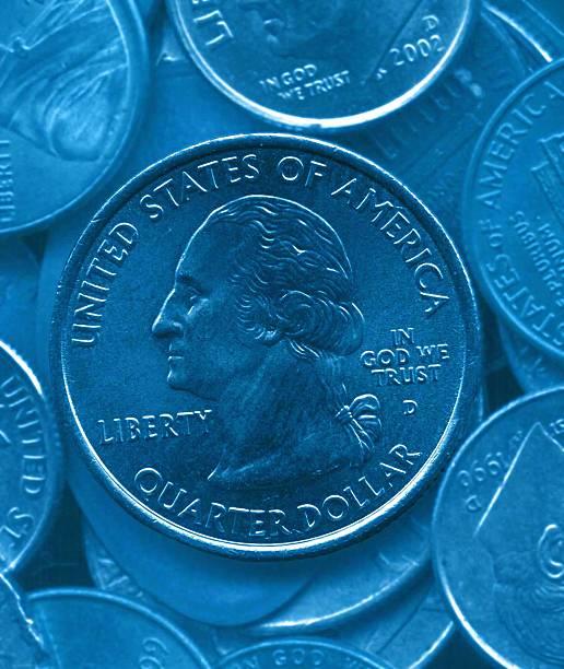 blue quarter stock photo