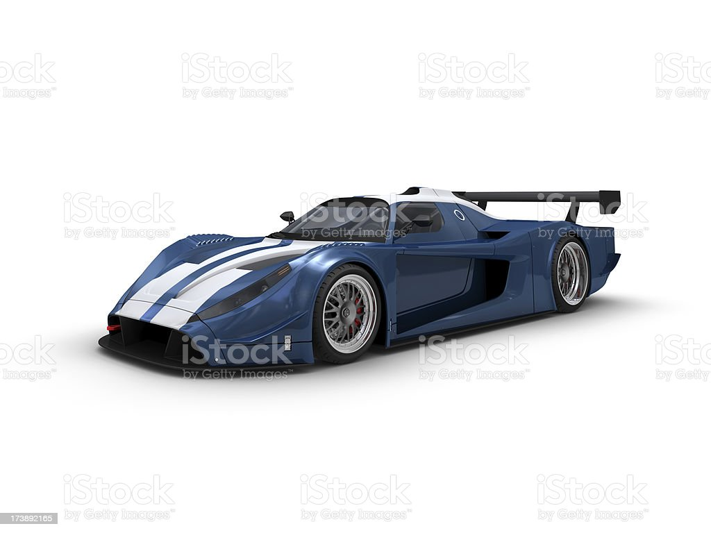 Blue Racecar stock photo