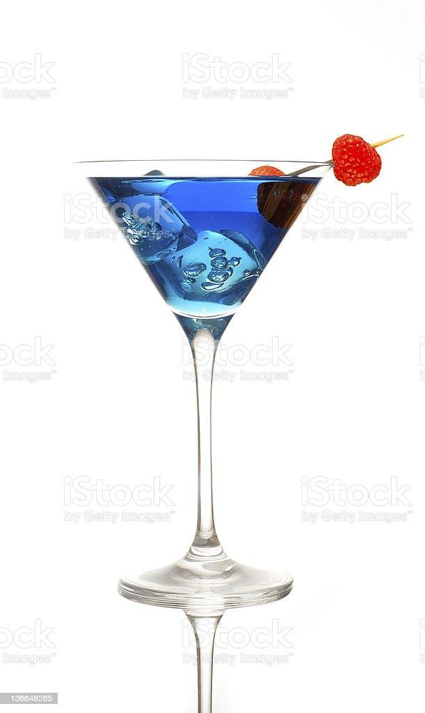 blue raspberry cocktail stock photo