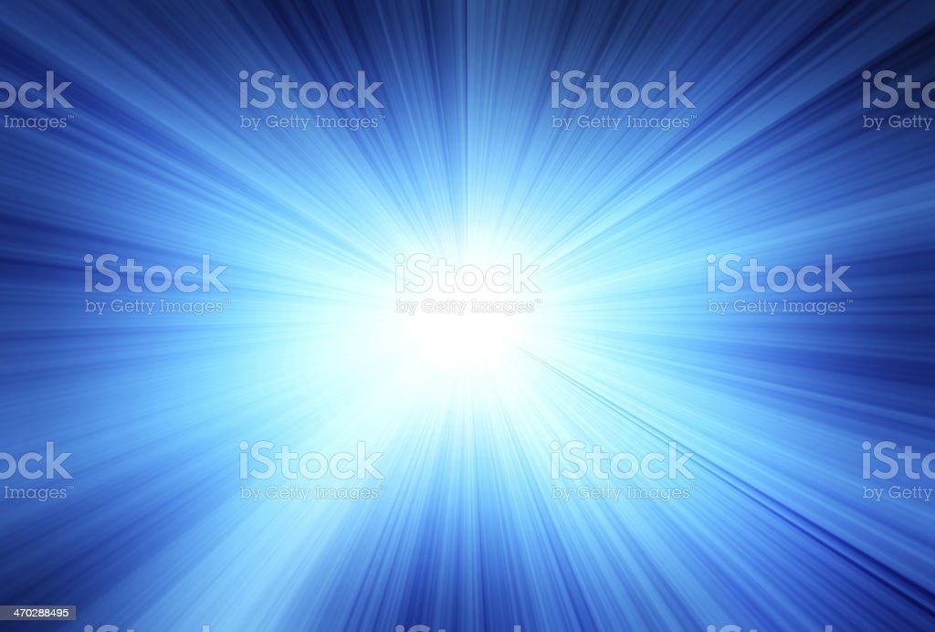 Blue ray background stock photo