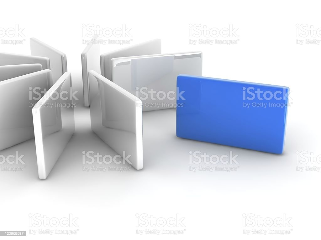 blue rectangle royalty-free stock photo