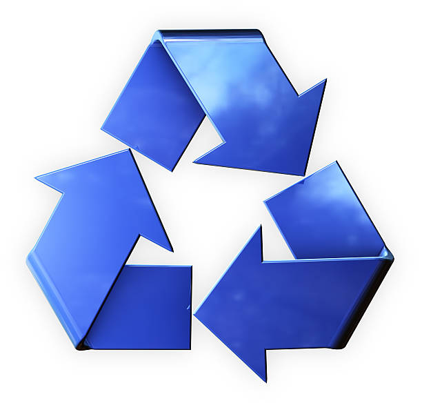 Blue Recycle (With Clipping Mask) stock photo