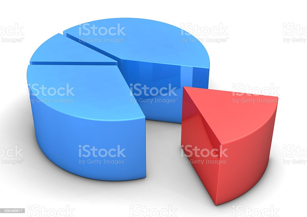 Blue Red Diagram stock photo
