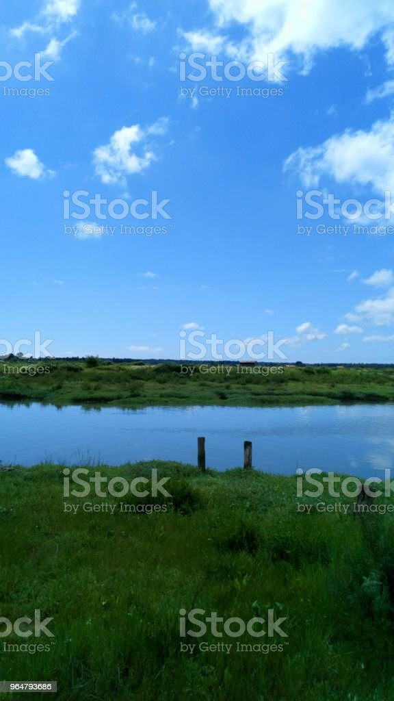 Blue reflection simplicity royalty-free stock photo