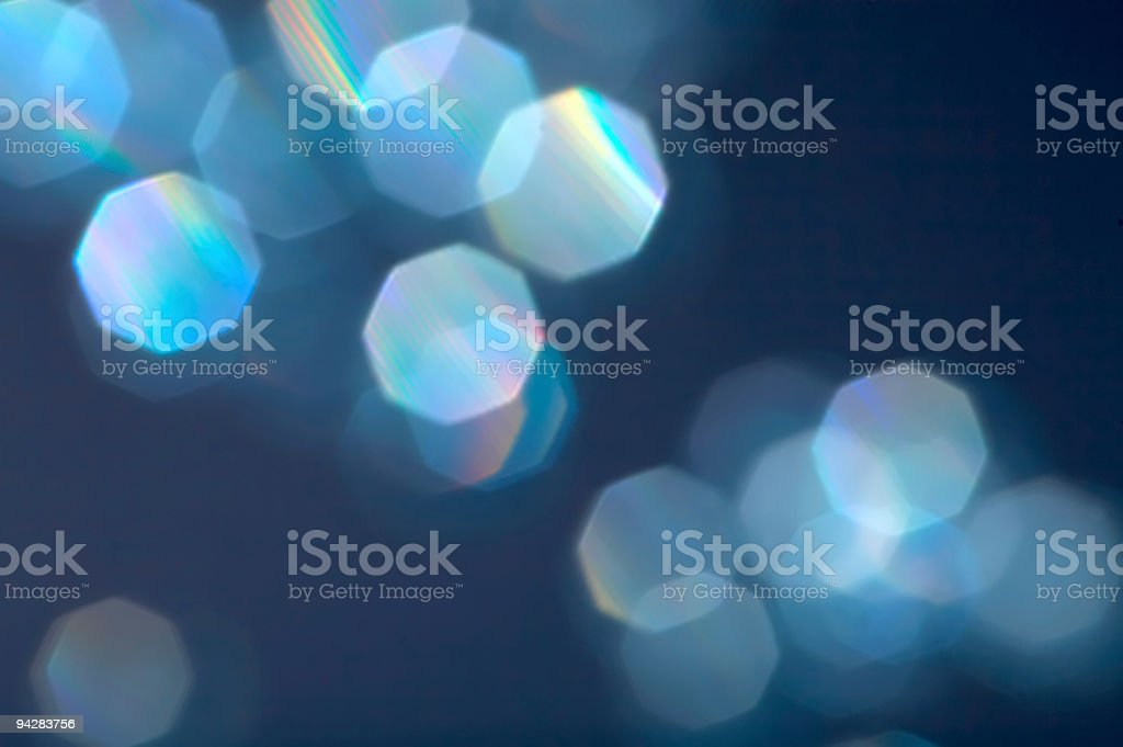 Blue reflexions royalty-free stock photo