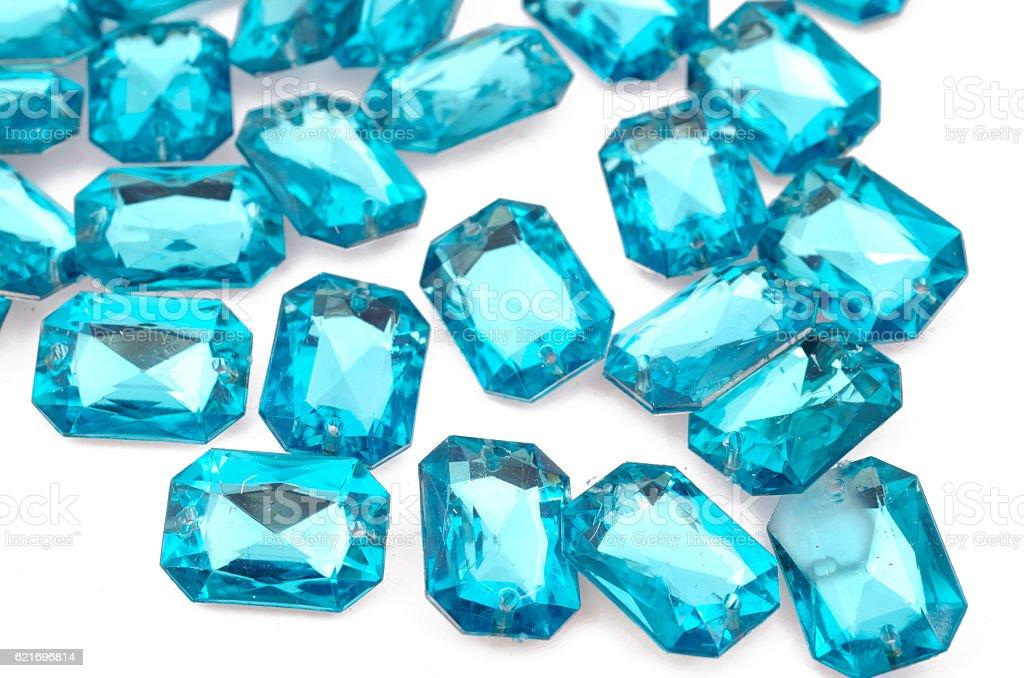 Blue rhinestones stock photo